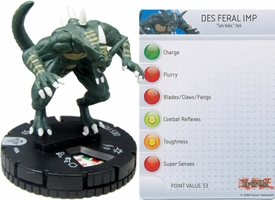 YuGiOh HeroClix Single Figure #4 Des Feral Imp