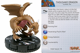 YuGiOh HeroClix Single Figure #42 Thousand Dragon
