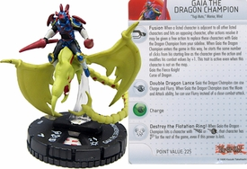 YuGiOh HeroClix Single Figure #50 Gaia the Dragon Champion