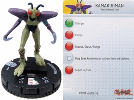 YuGiOh HeroClix Single Figure #9 Kamakiriman