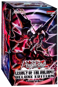 YuGiOh Legacy of the Valiant Deluxe Edition Box [9 Packs, 50 Sleeves & 3 Promo Foil Cards] New!