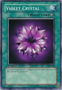 YuGiOh Legend of Blue Eyes White Dragon Single Card Common LOB-042 Violet Crystal