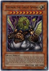 YuGiOh Movie Exclusive Pack Ultra Rare Promo Single Card EP1-EN001  Theinen the Great Sphinx