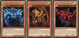 YuGiOh Premium Gold Set of all 3 God Single Cards [Obelisk, Ra & Slifer] BLOWOUT SALE!