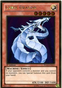 YuGiOh Premium Gold Single Card Gold Rare PGLD-EN053 Cyber Dragon