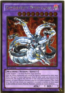 YuGiOh Premium Gold Single Card Gold Rare PGLD-EN056 Chimeratech Overdragon BLOWOUT SALE!