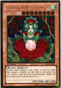 YuGiOh Premium Gold Single Card Gold Rare PGLD-EN088 Tytannial, Princess of Camellias