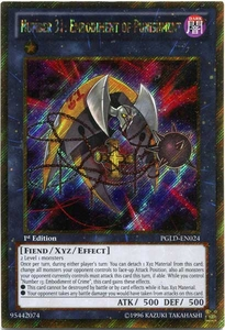 YuGiOh Premium Gold Single Card Gold Secret Rare PGLD-EN024 Number 31: Embodiment of Punishment