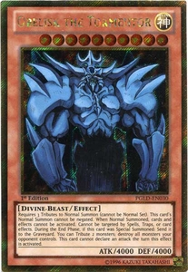 YuGiOh Premium Gold Single Card Gold Secret Rare PGLD-EN030 Obelisk the Tormentor