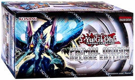 YuGiOh Primal Origin Deluxe Edition Box [9 Packs, 50 Sleeves & 3 Promo Foil Cards] New!