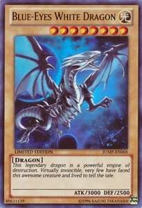 YuGiOh Shonen Jump Promo Single Card Ultra Rare JUMP-EN068 Blue-Eyes White Dragon