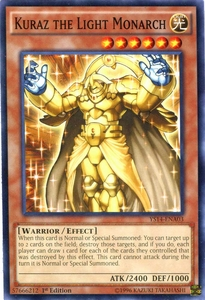 YuGiOh Space-Time Showdown Power-Up Pack Single Card Common YS14-ENA03 Kuraz the Light Monarch