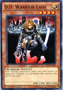 YuGiOh Space-Time Showdown Power-Up Pack Single Card Common YS14-ENA04 D.D. Warrior Lady