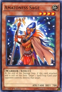 YuGiOh Space-Time Showdown Power-Up Pack Single Card Common YS14-ENA06 Amazoness Sage