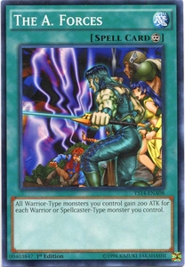YuGiOh Space-Time Showdown Power-Up Pack Single Card Common YS14-ENA08 The A. Forces