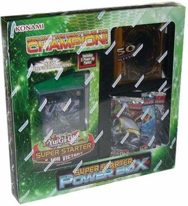 YuGiOh Super Starter: Power Box [3 Packs, 1 Deck & 50 Random Card Sleeves]