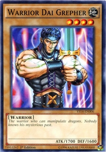 YuGiOh Super Starter: Space-Time Showdown Single Card Common YS14-EN006 Warrior Dai Grepher