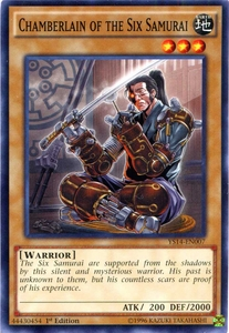 YuGiOh Super Starter: Space-Time Showdown Single Card Common YS14-EN007 Chamberlain of the Six Samurai