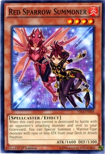 YuGiOh Super Starter: Space-Time Showdown Single Card Common YS14-EN018 Red Sparrow Summoner