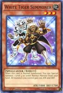 YuGiOh Super Starter: Space-Time Showdown Single Card Common YS14-EN019 White Tiger Summoner