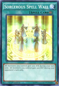 YuGiOh Super Starter: Space-Time Showdown Single Card Common YS14-EN021 Sorcerous Spell Wall