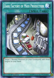 YuGiOh Super Starter: Space-Time Showdown Single Card Common YS14-EN029 Dark Factory of Mass Production