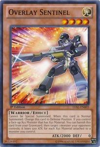 YuGiOh Zexal Legacy of the Valiant Single Card Common LVAL-EN005 Overlay Sentinel