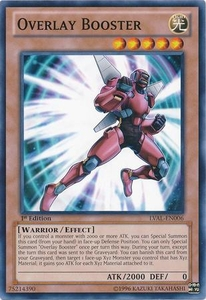 YuGiOh Zexal Legacy of the Valiant Single Card Common LVAL-EN006 Overlay Booster