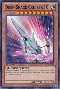 YuGiOh Zexal Legacy of the Valiant Single Card Common LVAL-EN010 Deep-Space Cruiser IX