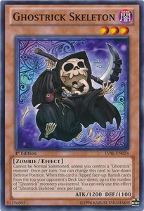 YuGiOh Zexal Legacy of the Valiant Single Card Common LVAL-EN024 Ghostrick Skeleton