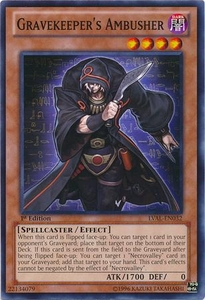 YuGiOh Zexal Legacy of the Valiant Single Card Common LVAL-EN032 Gravekeeper's Ambusher