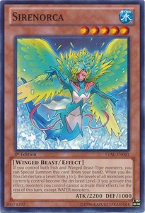 YuGiOh Zexal Legacy of the Valiant Single Card Common LVAL-EN041 Sirenorca
