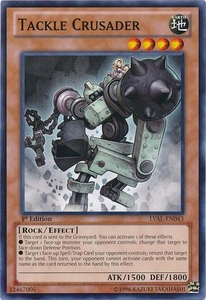 YuGiOh Zexal Legacy of the Valiant Single Card Common LVAL-EN043 Tackle Crusader
