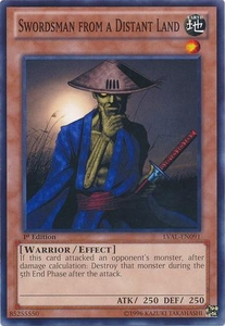 YuGiOh Zexal Legacy of the Valiant Single Card Common LVAL-EN091 Swordsman from a Distant Land
