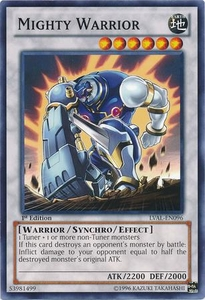 YuGiOh Zexal Legacy of the Valiant Single Card Common LVAL-EN096 Mighty Warrior
