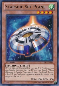YuGiOh Zexal Legacy of the Valiant Single Card Common LVAL-EN099 Starship Spy Plane