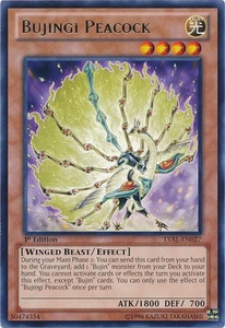 YuGiOh Zexal Legacy of the Valiant Single Card Rare LVAL-EN027 Bujingi Peacock