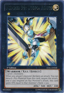 YuGiOh Zexal Legacy of the Valiant Single Card Rare LVAL-EN048 Number 39: Utopia Roots BLOWOUT SALE!