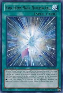 YuGiOh Zexal Legacy of the Valiant Single Card Rare LVAL-EN060 Rank-Down-Magic Numeron Fall
