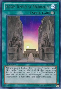 YuGiOh Zexal Legacy of the Valiant Single Card Rare LVAL-EN066 Hidden Temples of Necrovalley