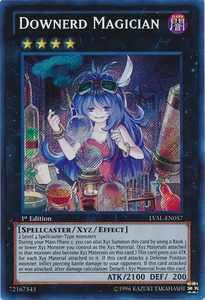 YuGiOh Zexal Legacy of the Valiant Single Card Secret Rare LVAL-EN057 Downerd Magician