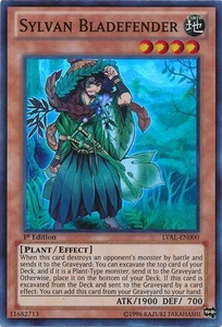 YuGiOh Zexal Legacy of the Valiant Single Card Super Rare LVAL-EN000 Sylvan Bladefender