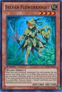 YuGiOh Zexal Legacy of the Valiant Single Card Super Rare LVAL-EN018 Sylvan Flowerknight