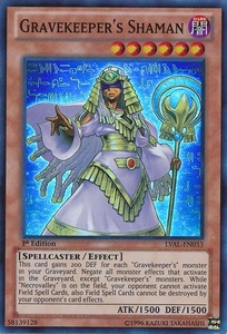 YuGiOh Zexal Legacy of the Valiant Single Card Super Rare LVAL-EN033 Gravekeeper's Shaman