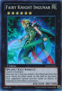 YuGiOh Zexal Legacy of the Valiant Single Card Super Rare LVAL-EN055 Fairy Knight Ingunar