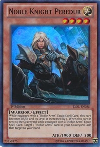 YuGiOh Zexal Legacy of the Valiant Single Card Super Rare LVAL-EN085 Noble Knight Peredur