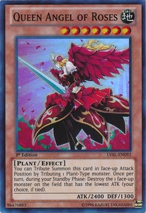 YuGiOh Zexal Legacy of the Valiant Single Card Super Rare LVAL-EN092 Queen Angel of Roses