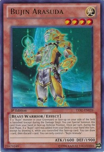 YuGiOh Zexal Legacy of the Valiant Single Card Ultra Rare LVAL-EN026 Bujin Arasuda