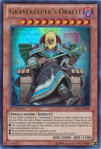 YuGiOh Zexal Legacy of the Valiant Single Card Ultra Rare LVAL-EN034 Gravekeeper's Oracle