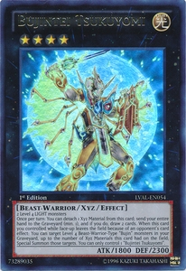 YuGiOh Zexal Legacy of the Valiant Single Card Ultra Rare LVAL-EN054 Bujintei Tsukuyomi